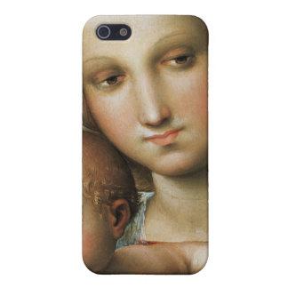Detalle de <Virgin and Child> Atribuido a Rapha iPhone 5 Coberturas