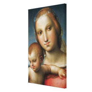 Detalle de <Virgin and Child> Atribuido a Rapha Impresiones De Lienzo