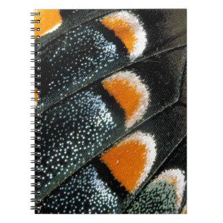 Detalle del ala de la mariposa libro de apuntes con espiral