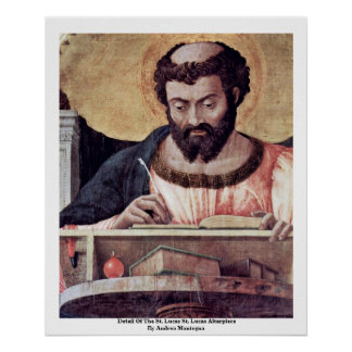 Detalle del Altarpiece del St Lucas del St Lucas Impresiones