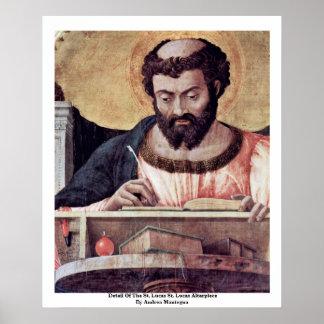 Detalle del Altarpiece del St. Lucas del St. Lucas Póster