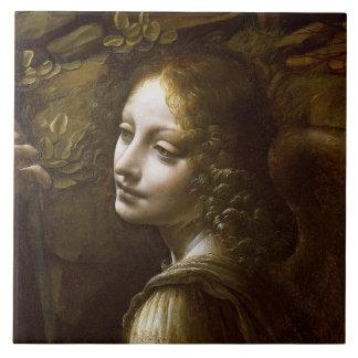 Detalle del ángel azulejo cuadrado grande