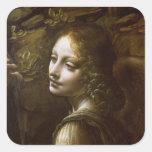 Detalle del ángel, de la Virgen del Pegatina Cuadrada