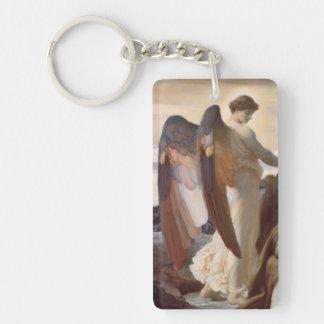 Detalle del ángel de sir Federico Leighton Llavero Rectangular Acrílico A Doble Cara