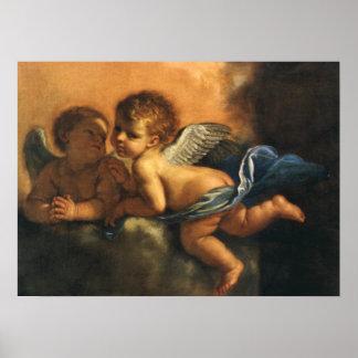 Detalle del ángel, santos patrones de Módena por Póster