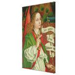 Detalle del arcángel Gabriel Impresión En Lona Estirada