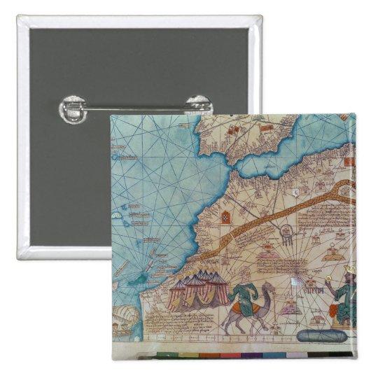 Detalle del atlas catalán, 1375 pin cuadrado
