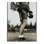 Detalle del atleta de LaCrosse Tarjetas Postales