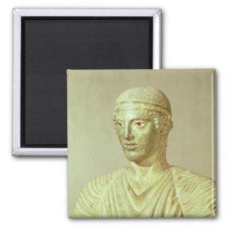 Detalle del auriga de Delphi, c.470 A.C. Imán Cuadrado