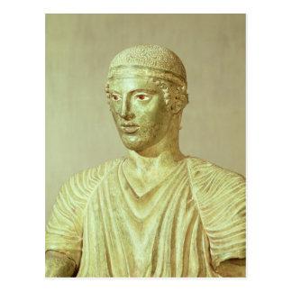 Detalle del auriga de Delphi, c.470 A.C. Postal