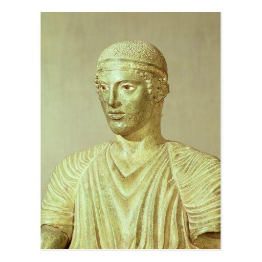 Detalle del auriga de Delphi, c.470 A.C. Tarjeta Postal