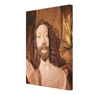 Detalle del bautismo de Cristo Impresión En Lona