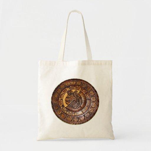 Detalle del calendario maya antiguo bolsa de mano