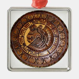 Detalle del calendario maya antiguo ornamentos para reyes magos
