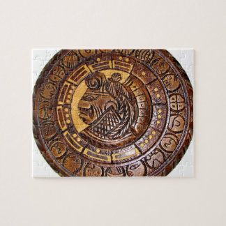 Detalle del calendario maya antiguo puzzle con fotos