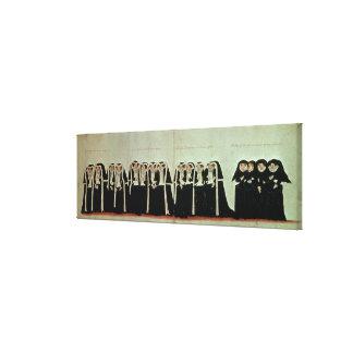 Detalle del cortejo fúnebre lona estirada galerías