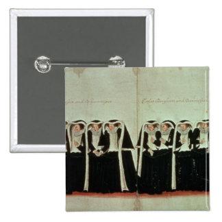 Detalle del cortejo fúnebre pin cuadrada 5 cm