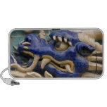 Detalle del dragón de cerámica en el dragón histór altavoz de viajar