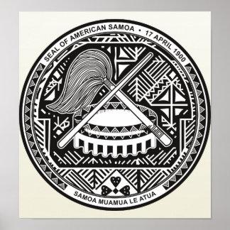 Detalle del escudo de armas de American Samoa Poster