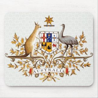 Detalle del escudo de armas de Australia Alfombrillas De Ratón