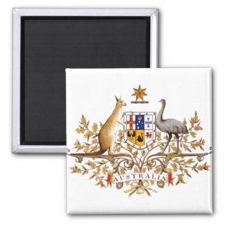 Detalle del escudo de armas de Australia Imán Cuadrado