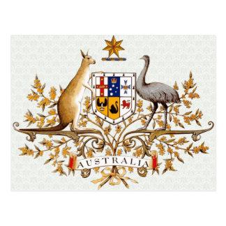 Detalle del escudo de armas de Australia Postal