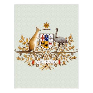 Detalle del escudo de armas de Australia Postales