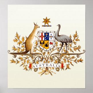 Detalle del escudo de armas de Australia Póster