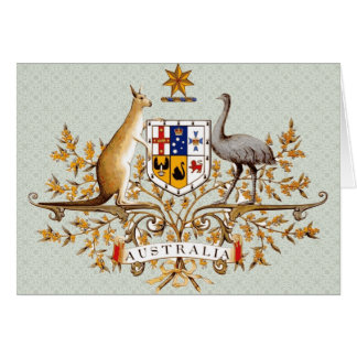 Detalle del escudo de armas de Australia Tarjeta De Felicitación