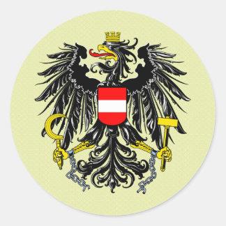 Detalle del escudo de armas de Austria Pegatina Redonda