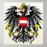 Detalle del escudo de armas de Austria Poster