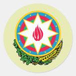 Detalle del escudo de armas de Azerbaijan Pegatina Redonda