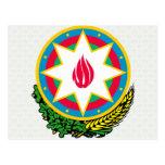Detalle del escudo de armas de Azerbaijan Postal