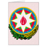Detalle del escudo de armas de Azerbaijan Felicitacion