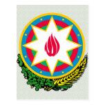 Detalle del escudo de armas de Azerbaijan Tarjetas Postales
