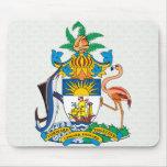 Detalle del escudo de armas de Bahamas Tapetes De Ratón