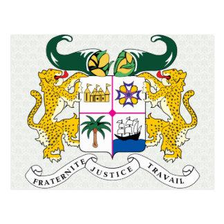 Detalle del escudo de armas de Benin Postal