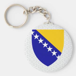 Detalle del escudo de armas de Bosnia y Herzegovin Llavero Personalizado