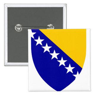 Detalle del escudo de armas de Bosnia y Pin Cuadrado