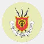 Detalle del escudo de armas de Burundi Etiqueta Redonda