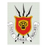 Detalle del escudo de armas de Burundi Postales