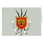 Detalle del escudo de armas de Burundi Tarjetón