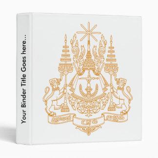 Detalle del escudo de armas de Camboya