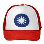 Detalle del escudo de armas de China de la repúbli Gorras