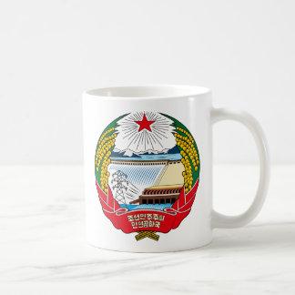 Detalle del escudo de armas de Corea del Norte Taza De Café