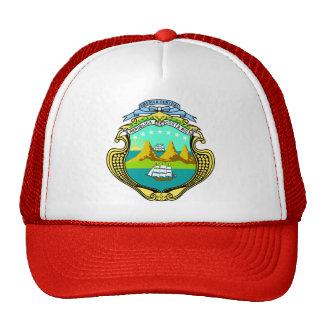 Detalle del escudo de armas de Costa Rica Gorras