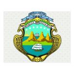 Detalle del escudo de armas de Costa Rica Postales