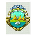 Detalle del escudo de armas de Costa Rica Tarjetas Postales