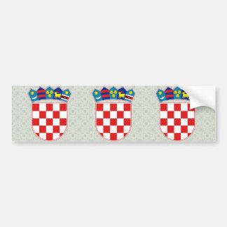 Detalle del escudo de armas de Croacia Pegatina Para Auto