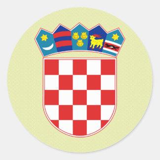 Detalle del escudo de armas de Croacia Pegatina Redonda